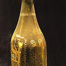 Old Bottle with Ornaments by vivendulies