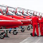 The Red Arrows parked at Kemble airfield by Martyn Franklin