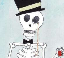 The Gentleman Skeleton Sticker