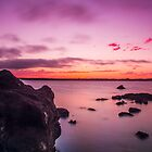Cleveland Point Rocks @ Sunset by Joel Brown