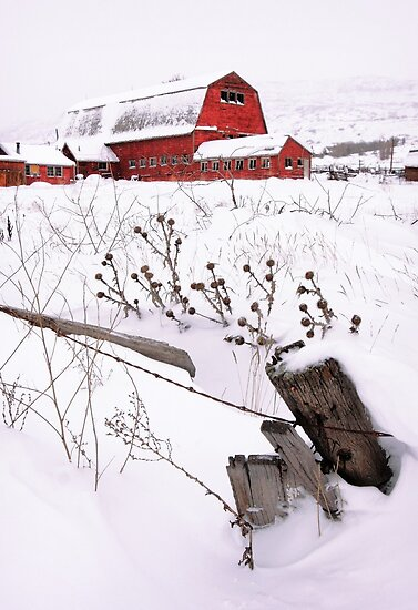 Winter Barn 3 by David Kocherhans