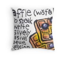 Waffle (Funny Words Series) Throw Pillow