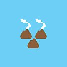 Digital poos crap turds three with smelly stink clouds! by jazzydevil