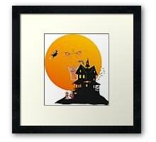 on Halloween night Framed Print