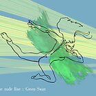 Swan green wings by jatujeep