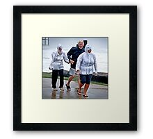 into the big blow Framed Print