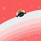 Cute Bug With Earflaps Winter IPhone Case by Boriana Giormova