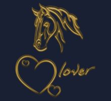 "Shirt-Design ""Horselover""- golden edit by scatharis"