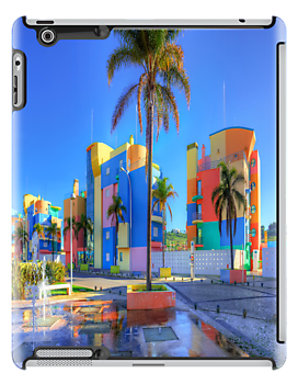Rainbow House 05 iPhone/iPad Case by ManateesDesign