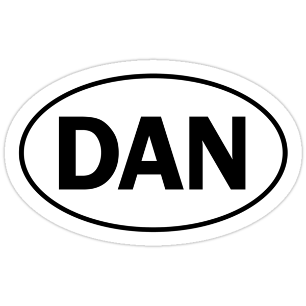 DAN - Oval Identity Sign by Ovals