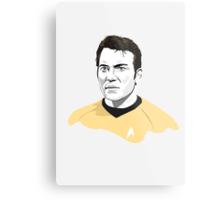 Star Trek James T. Kirk (William Shatner) illustration Metal Print
