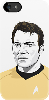 Star Trek James T. Kirk (William Shatner) illustration by Creative Spectator