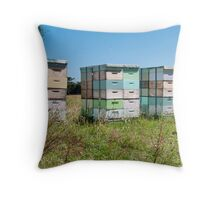 beehives 4 Throw Pillow