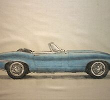 jaguar e type roadster by Peter Brandt