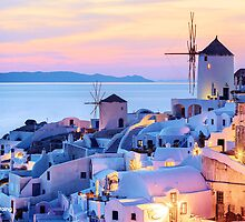 Santorini Sunset - Limited Edition Fine Art Photograph by Jarrod Castaing