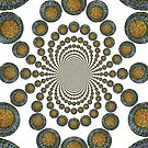 Kaleidoscope Ornate Mandala in Green by KFStudios