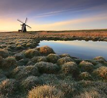 Sunrise at Herringfleet by Justin Minns