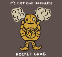 "Blitzcrank - ""IT'S JUST ONE HARMLESS ROCKET GRAB"" - WHITE TEXT/DARK SHIRTS by baconpiece"