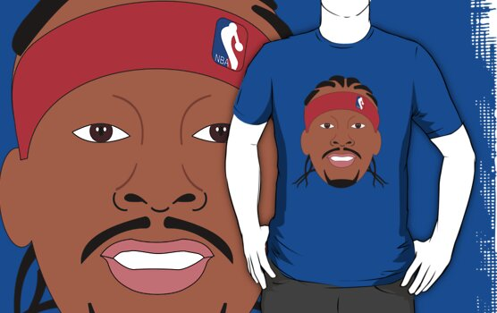 NBAToon of Allen Iverson, player of Philadelphia 76ers by D4RK0