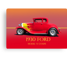 1930 Ford Model A Coupe Profile w/ID Canvas Print