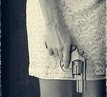 Woman with Revolver by Edward Fielding