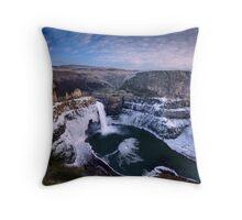 Winter at Palouse Falls Throw Pillow