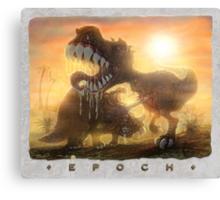 Epoch Cretaceous Dinosaur Battle Canvas Print