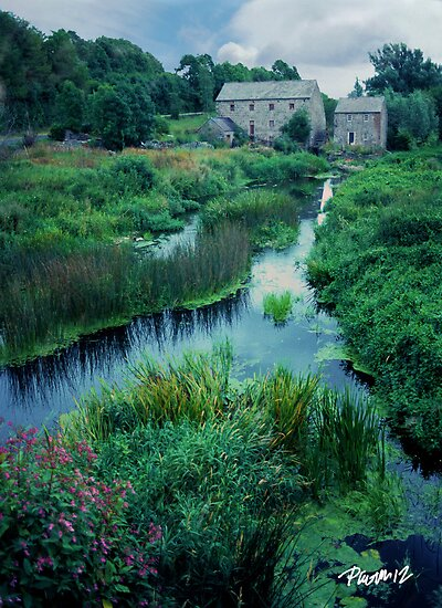 Mill and Stream - Ireland Series by JimPavelle