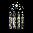 Leaded Glass Window, Notre Dame, Paris by HazardousCoffee