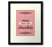 Cute Valentine's Day Design Framed Print
