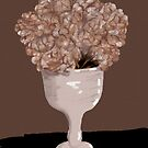Still Life with Hydrangeas in a White Vase by Sarah Countiss