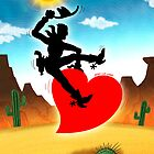 Cowboy Riding a Wild Heart by Zoo-co