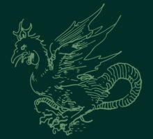 Green Dragon Shirt by Archpress