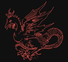Red Dragon Shirt by Archpress