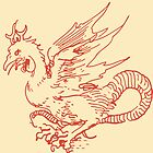 Red Dragon Print Albrecht Durer by Archpress
