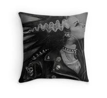 The Punk Rock Bride Throw Pillow
