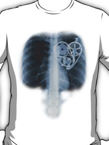 BiKE LOVE X Ray bicycle heart components T-Shirt