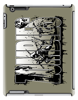Bruyn - Zombies iPad Case 02 by Craig Bruyn
