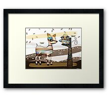 Deer and Owl Framed Print