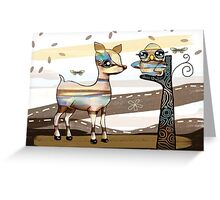 Deer and Owl Greeting Card