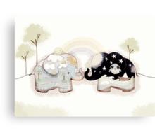 Good Karma Elephants Canvas Print