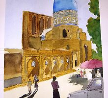 Uzbeki street scene by taariqhassan