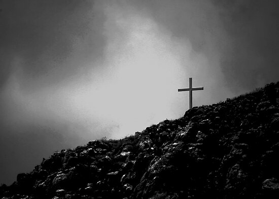 A cross on a hill by Graeme Mockler