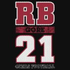 San Francisco 49ers RB Frank Gore #21 T-Shirt! by endlessimages