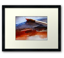Red & Blue Water Framed Print