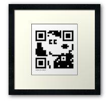 QR Code - Snoopy Framed Print