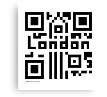 QR Code - London Canvas Print