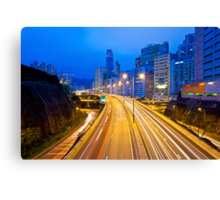 Traffic highway in Hong Kong Canvas Print