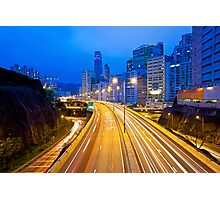 Traffic highway in Hong Kong Photographic Print