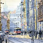 Prague Vodickova str  by Yuriy Shevchuk